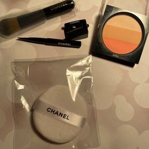 Chanel brushes, sharpener, puff and les beiges pad